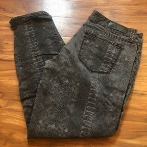 seven7 skinny jeans snake print size 14